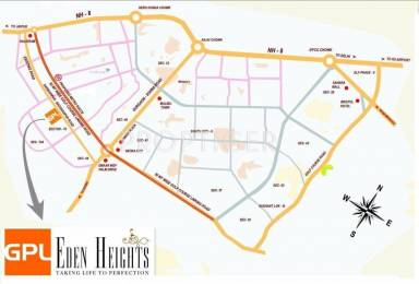 1510 sqft, 2 bhk Apartment in GPL Eden Heights Sector 70, Gurgaon at Rs. 1.2000 Cr