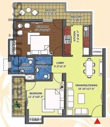 1000 sqft, 2 bhk Apartment in K World Estates Builders KW Srishti Raj Nagar Extension, Ghaziabad at Rs. 33.0000 Lacs