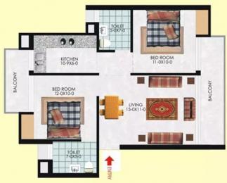 928 sqft, 2 bhk Apartment in Milan Earth Raj Nagar Extension, Ghaziabad at Rs. 26.0000 Lacs