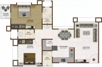1219 sqft, 2 bhk Apartment in Happy Home Nakshatra Nebula Palanpur, Surat at Rs. 39.0000 Lacs