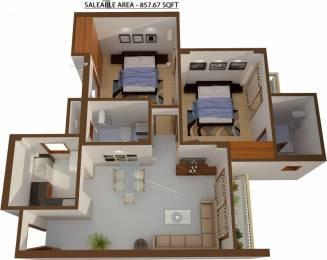 858 sqft, 2 bhk Apartment in Shree Sai Baba Sai Gaon Kaazi Sarai, Varanasi at Rs. 25.7000 Lacs
