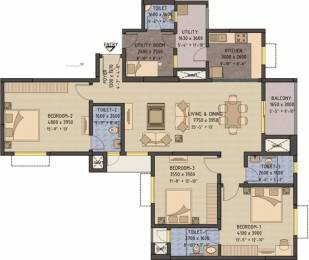 1893 sqft, 3 bhk Apartment in Sobha Forest View Talaghattapura, Bangalore at Rs. 28000