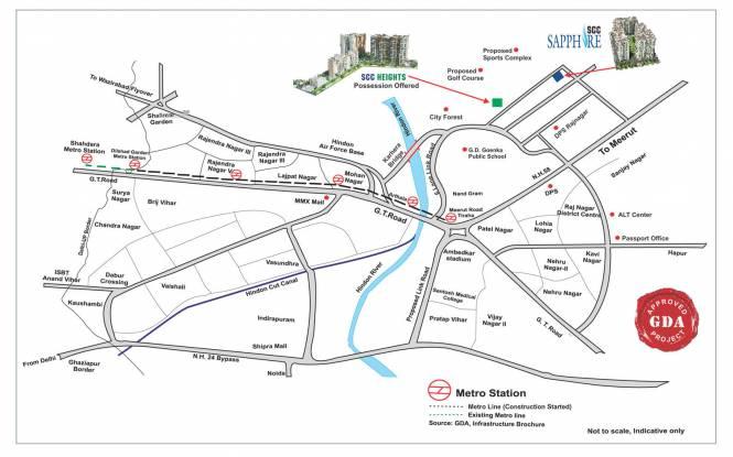 885 sqft, 2 bhk Apartment in SCC SCC Sapphire Raj Nagar Extension, Ghaziabad at Rs. 28.0000 Lacs