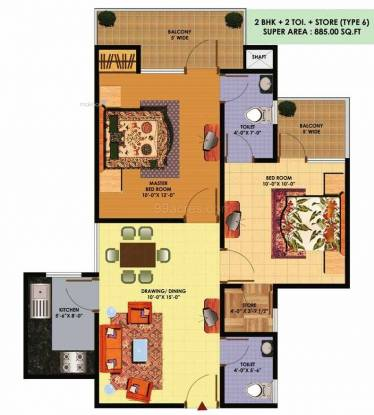 885 sqft, 2 bhk Apartment in SCC SCC Sapphire Raj Nagar Extension, Ghaziabad at Rs. 29.0000 Lacs