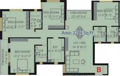 2284 sqft, 4 bhk Apartment in Natural City Dum Dum Park, Kolkata at Rs. 1.0100 Cr