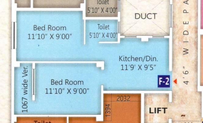 574 sqft, 2 bhk Apartment in Builder tanvir nilay Andul, Kolkata at Rs. 13.7760 Lacs