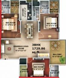 1729 sqft, 3 bhk Apartment in Amna Rolex Estate Chinhat, Lucknow at Rs. 95.0000 Lacs