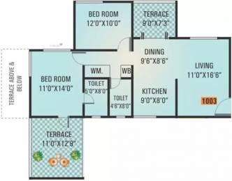 1096 sqft, 2 bhk Apartment in Vishwa Dew Dale Wakad, Pune at Rs. 17500
