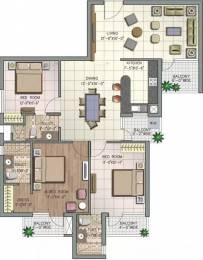 1690 sqft, 3 bhk Apartment in NK Savitry Greens VIP Rd, Zirakpur at Rs. 15000