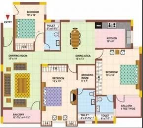 1663 sqft, 3 bhk Apartment in Orbit Orbit Apartments VIP Rd, Zirakpur at Rs. 55.0000 Lacs