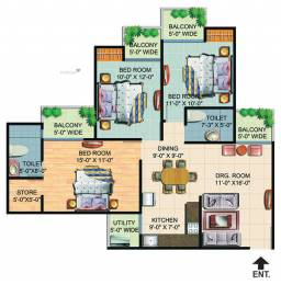 1385 sqft, 3 bhk Apartment in Builder Project Greater Noida West, Greater Noida at Rs. 50.0000 Lacs
