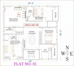 2448 sqft, Plot in Akshita Golden Breeze Maheshwaram, Hyderabad at Rs. 21.2160 Lacs