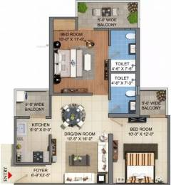 950 sqft, 2 bhk Apartment in JM Florence Techzone 4, Greater Noida at Rs. 30.5425 Lacs