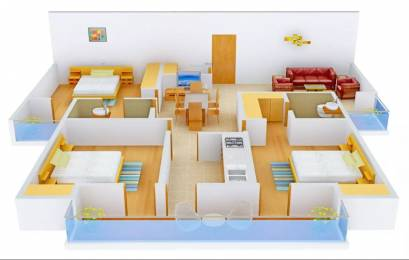 1581 sqft, 3 bhk Apartment in Rudra Twin Towers Butler Colony, Lucknow at Rs. 20000
