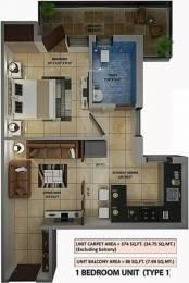 486 sqft, 1 bhk Apartment in Amolik Heights Sector 88, Faridabad at Rs. 15.2900 Lacs