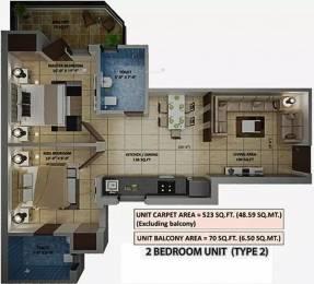 679 sqft, 2 bhk Apartment in Amolik Heights Sector 88, Faridabad at Rs. 20.6800 Lacs