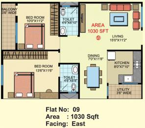 1030 sqft, 2 bhk Apartment in Builder sri chakra blossom Electronic City Phase 1, Bangalore at Rs. 26.7697 Lacs