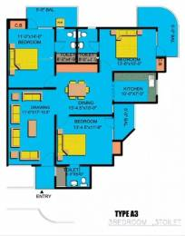 1650 sqft, 3 bhk Apartment in Express Garden Vaibhav Khand, Ghaziabad at Rs. 75.0000 Lacs