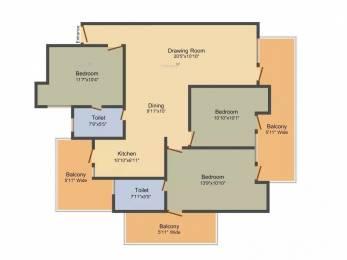 1680 sqft, 3 bhk Apartment in Gulshan GC Centrum Ahinsa Khand 2, Ghaziabad at Rs. 78.0000 Lacs