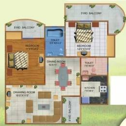 1270 sqft, 2 bhk Apartment in JNC Princess Park Ahinsa Khand 2, Ghaziabad at Rs. 58.0000 Lacs