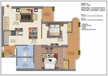 1080 sqft, 2 bhk Apartment in Saya Gold Avenue Vaibhav Khand, Ghaziabad at Rs. 61.0000 Lacs