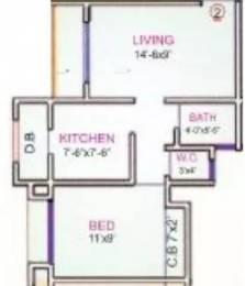 670 sqft, 1 bhk Apartment in Gaurav Shweta Residency Mira Road East, Mumbai at Rs. 54.0000 Lacs