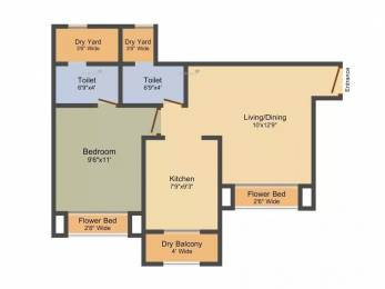 750 sqft, 1 bhk Apartment in Sadguru Paradise Mira Road East, Mumbai at Rs. 53.0000 Lacs