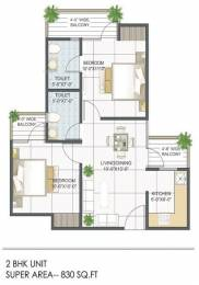 830 sqft, 2 bhk Apartment in Builder Project Noida Extn, Noida at Rs. 14.1900 Lacs