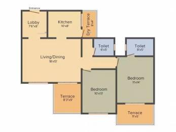 1055 sqft, 2 bhk Apartment in Kolte Patil Beryl Kharadi, Pune at Rs. 24000