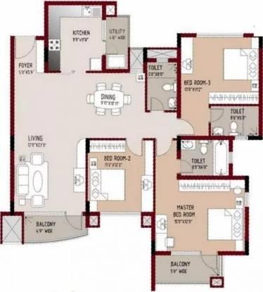 1805 sqft, 3 bhk Apartment in Purva Swanlake Kelambakkam, Chennai at Rs. 73.0000 Lacs