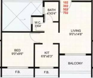 645 sqft, 1 bhk Apartment in Hi Tech Gulmohar Heights Ulwe, Mumbai at Rs. 45.0000 Lacs
