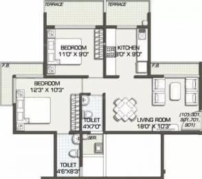 1100 sqft, 2 bhk Apartment in Kailash Pratik Renaissance Ulwe, Mumbai at Rs. 84.0000 Lacs