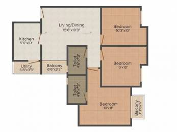 1130 sqft, 3 bhk Apartment in Paras Seasons Sector 168, Noida at Rs. 46.0000 Lacs