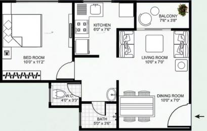 625 sqft, 1 bhk Apartment in Mirchandani Shalimar Swayam Sukliya, Indore at Rs. 18.0000 Lacs