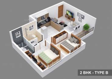 1066 sqft, 2 bhk Apartment in Kolte Patil Life Republic Hinjewadi, Pune at Rs. 13000