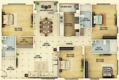2377 sqft, 4 bhk Apartment in Signum Cloud 9 Mominpore, Kolkata at Rs. 1.7114 Cr