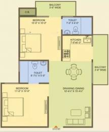 890 sqft, 2 bhk Apartment in MR Officer City 2 Raj Nagar Extension, Ghaziabad at Rs. 24.9200 Lacs