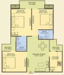 1315 sqft, 3 bhk Apartment in MR Officer City 2 Raj Nagar Extension, Ghaziabad at Rs. 35.5050 Lacs