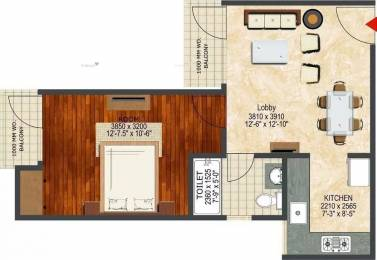 718 sqft, 1 bhk Apartment in LandCraft River Heights Raj Nagar Extension, Ghaziabad at Rs. 21.1810 Lacs