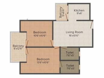 1055 sqft, 2 bhk Apartment in Mittal Rajnagar Residency Raj Nagar Extension, Ghaziabad at Rs. 33.7600 Lacs