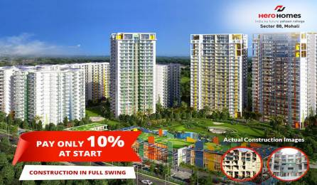 1095 sqft, 2 bhk BuilderFloor in Hero Hero Homes Sector 88 Mohali, Mohali at Rs. 48.1163 Lacs