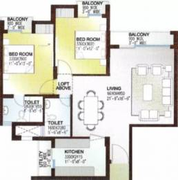1285 sqft, 2 bhk Apartment in Rishita Celebrity Greens Sushant Golf City, Lucknow at Rs. 32.0000 Lacs