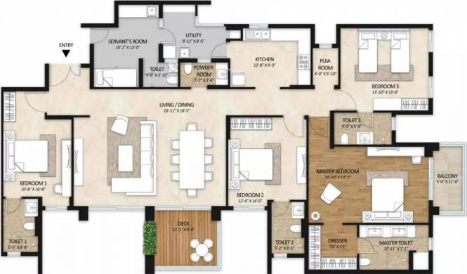 3012 sqft, 4 bhk Apartment in Mahindra Windchimes Bilekahalli, Bangalore at Rs. 2.3100 Cr