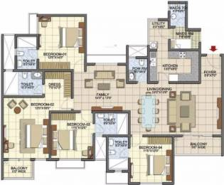 2462 sqft, 4 bhk Apartment in Prestige Song Of The South Begur, Bangalore at Rs. 1.2800 Cr