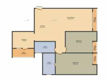 1296 sqft, 2 bhk Apartment in Sobha The Park And The Plaza Talaghattapura, Bangalore at Rs. 90.0000 Lacs