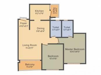 1093 sqft, 2 bhk Apartment in Godrej Eternity Kanakapura Road Beyond Nice Ring Road, Bangalore at Rs. 61.2100 Lacs