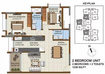 1239 sqft, 2 bhk Apartment in Salarpuria Sattva Opus Dasarahalli on Tumkur Road, Bangalore at Rs. 80.1200 Lacs