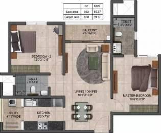 962 sqft, 2 bhk Apartment in Prestige Jindal City Dasarahalli on Tumkur Road, Bangalore at Rs. 58.0000 Lacs