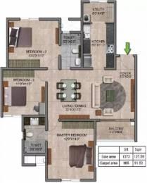 1373 sqft, 3 bhk Apartment in Prestige Jindal City Dasarahalli on Tumkur Road, Bangalore at Rs. 84.0000 Lacs