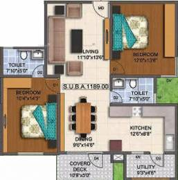 1169 sqft, 2 bhk Apartment in Mahaveer Promenade KR Puram, Bangalore at Rs. 64.9300 Lacs